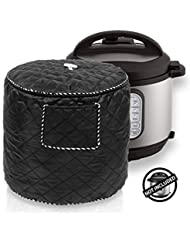WERSEA Kitchen Appliance Cover Bag for 6 Quart Instant Pot and Electric Pressure Cooker, Black