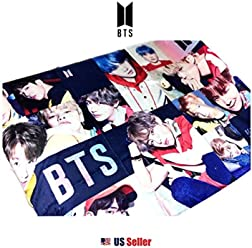 K-Pop Boy Band BTS Bangtan Boys Micro Polar Fleece Wall Deco Towel Blanket (