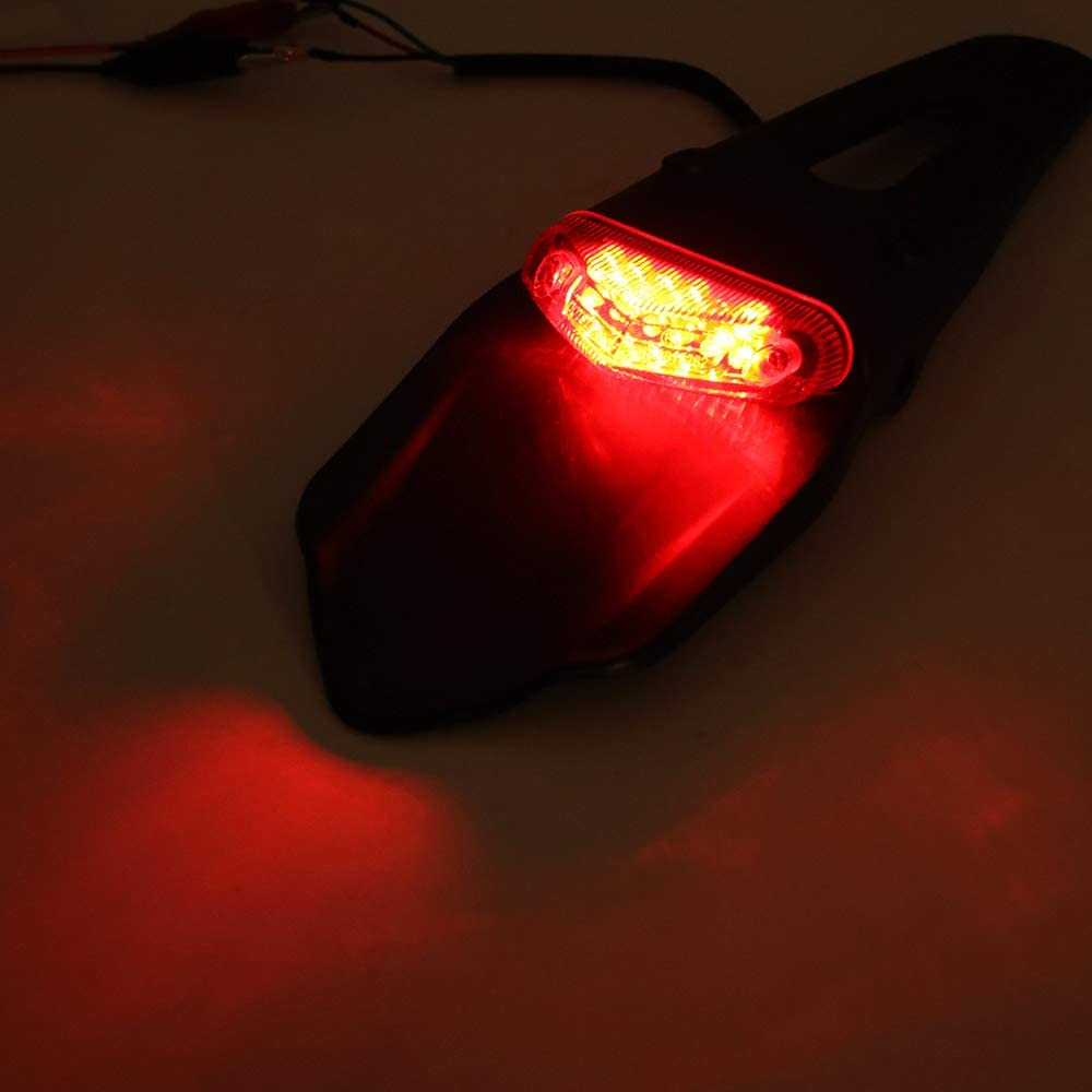PopHMN Moto LED Feu arri/ère Moto Feu arri/ère Fender Int/égr/é LED Stop Frein Lumi/ère Arri/ère Feu arri/ère Signal Signal Lumi/ère De S/écurit/é Lumi/ère