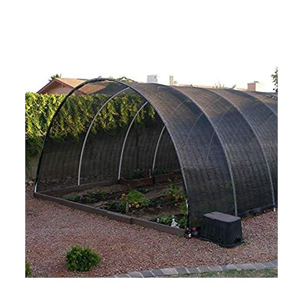 Giow - Telo protettivo per protezione solare in polietilene nero, 24 misure (colore: nero, dimensioni: 6 x 6 m) 2 spesavip