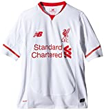 New Balance Liverpool FC Away Junior Short Sleeve Jersey - White/Red Print, X-Large