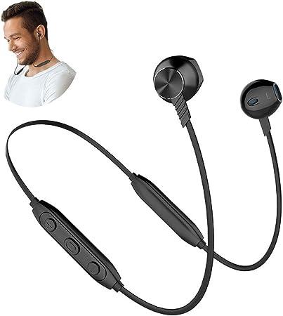 Auriculares inalámbricos Bluetooth, Auriculares Deportivos Bluetooth, batería Doble de Larga Espera para Samsung, iPhone, Huawei, LG y teléfono Inteligente,Negro: Amazon.es: Hogar