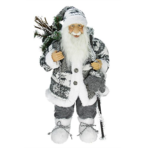 Northlight 24″ Country Patchwork Standing Santa Claus Christmas Figure Review