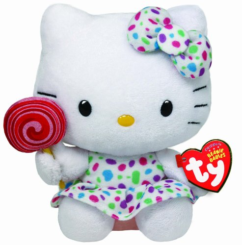 Ty Beanie Baby Hello Kitty   Lollipop