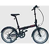 "EuroMini ZiZZO Via 26lb Folding Bike-Lightweight Aluminum Frame Genuine Shimano 7-speed 20"" Folding bike with Fenders"