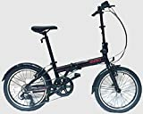 "EuroMini Via 20"" Folding Bike-Lightweight Aluminum Frame Genuine Shimano 7-speed 26lb"