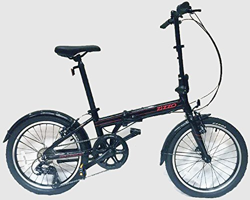 "Best Deals! EuroMini Via 20"" Folding Bike-Lightweight Aluminum Frame Genuine Shimano 7-speed 26lb"