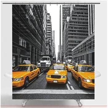 NEW YORK CITY Fabric Shower Curtain