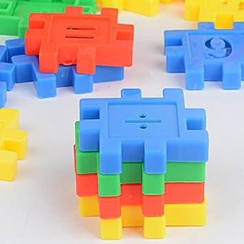 Amazon Com Children Toys Digital Square Blocks Plastic Fight