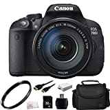 Canon EOS Rebel T5i (700D) Digital SLR Camera (Body Only) with EF-S 18-135mm f/3.5-5.6 IS STM + 32GB Bundle 7PC Accessory Kit. Inlcudes UV Filter + 32GB Memory Card + High Speed Memory Card Reader + Extended Life Replacement Battery (LP-E8) + Mini HDMI Cable + Carrying Case + Microfiber Cleaning Cloth