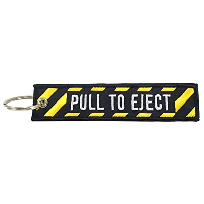 Pull to Eject, Embroidered Key Chain: Office Products [5Bkhe0114710]