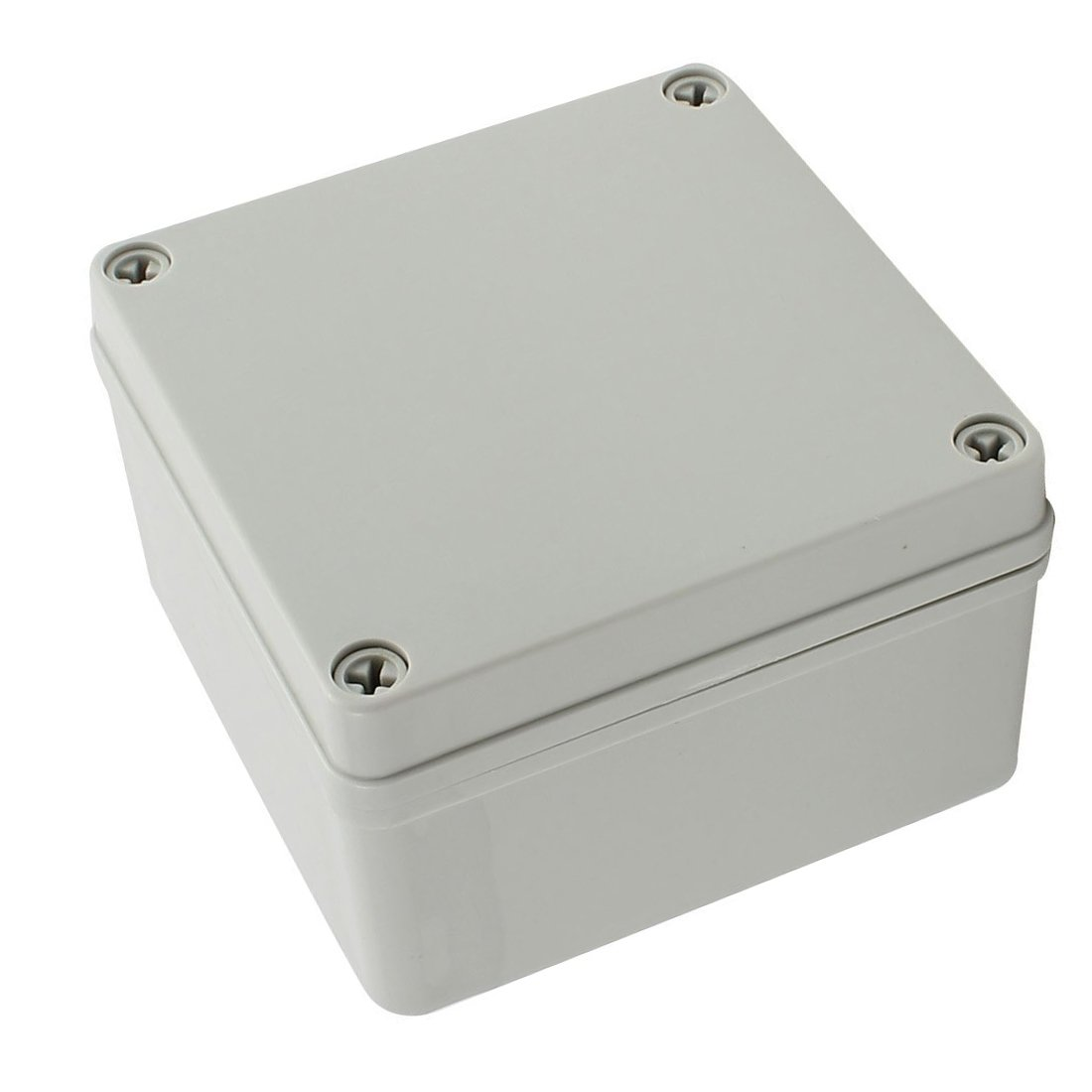 YXQ 125 x 125 x 75mm Electrical Project Case Junction Box IP65 Waterproof ABS DIY Power Outdoor Enclosure Gray (5 x 5 x 3 inches)