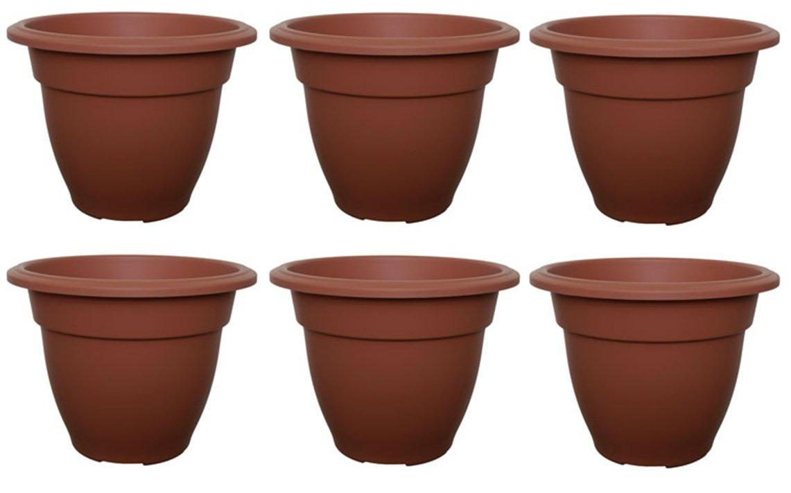 Classic garden pots ebay ebay workwithnaturefo 6 x small 20cm round bell plant pots planters plastic terracotta 6 x small 20cm round workwithnaturefo