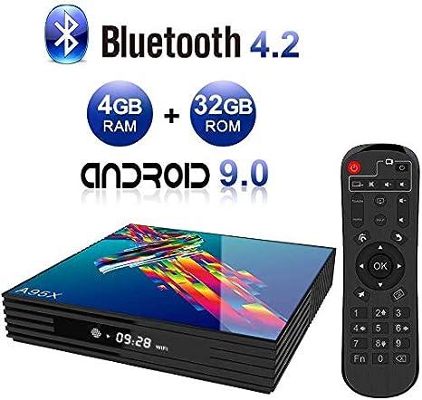 DOOK Android TV Box 9.0, 2020 El más Nuevo Android Box 4GB RAM 32GB ROM RK3318