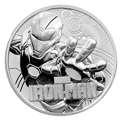 2018 TV Iron Man Silver Marvel Series Coin 1 GEM BU Uncertified