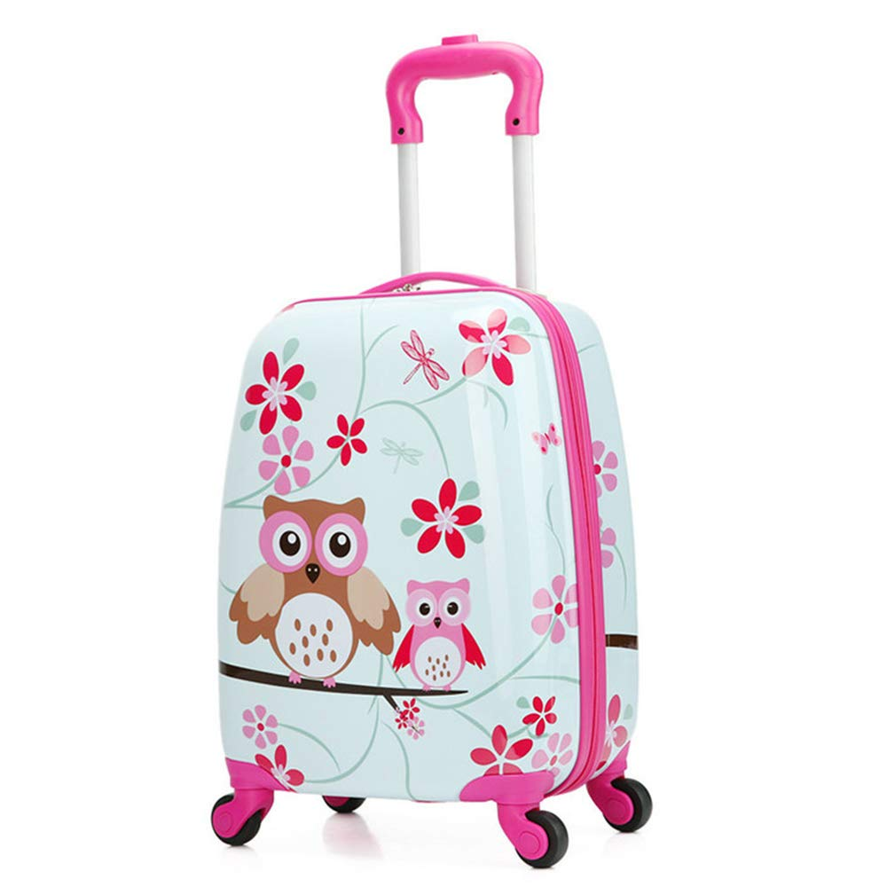 06f832b8e3dc Children Rolling Travel Suitcase Animal Cartoon Owl Kids Carry On Luggage  Cases Universal Wheels 18 in Travel Luggage Case(Owl)