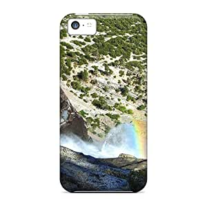 Premium Durable Down The Waterfall Fashion Tpu Iphone 5c Protective Case Cover