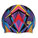 Arena 1E368-405-NS - Gorra de natación (2 Unidades), diseño de Rayas, Color Rojo y Negro