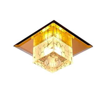 GAOYU Deckenleuchte Kristall Spiegel Deckenleuchte Einfache Moderne  Deckenleuchte, Eingebettete LED Decke Pendelleuchte