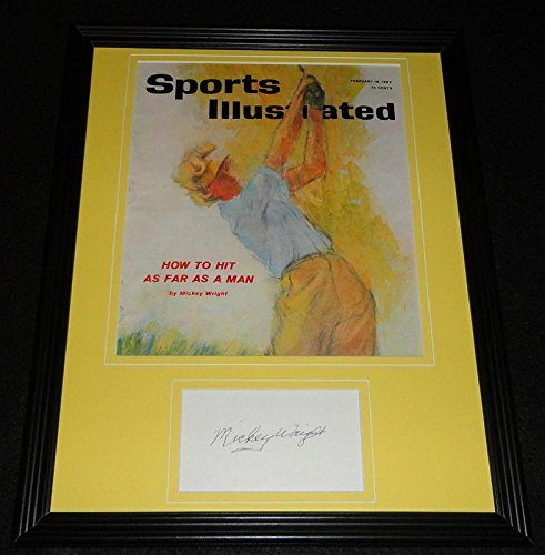 Mickey Wright Signed Framed 1962 Sports Illustrated Magazine Cover Display - Autographed Golf Magazines