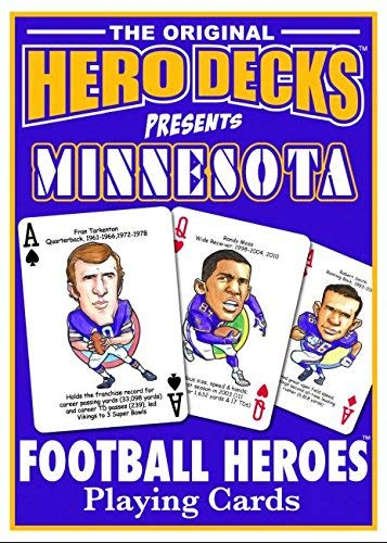 HeroDecks Football Playing Cards for Minnesota Vikings Fans