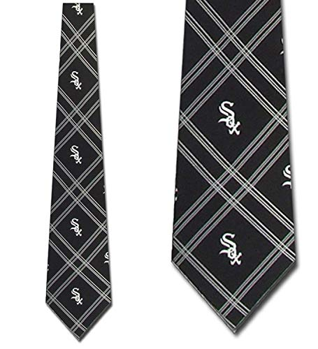 Mens Chicago White Sox Woven Poly Tie