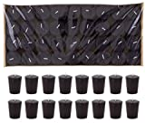 DDI 1996417 72-Piece 15 Hour Pressed Unscented Votive Candle - Black Case of 144