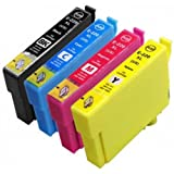 Ink & Toner Geek ® - 4 Pack Remanufactured Replacement Inkjet Cartridges for Epson T220XL #220XL (T220XL120, T220XL220, T220XL320, T220XL420) Black Cyan Magenta Yellow For Use With Epson Expression Home XP-320 Small-in-One Expression Home XP-420 Small-in-One Expression Home XP-424 Small-in-One WorkForce WF-2630 WorkForce WF-2650 WorkForce WF-2660