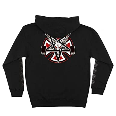 9479c2156d76 Image Unavailable. Image not available for. Color  Independent Trucks x  Thrasher Magazine Pentagram Cross Men s Pullover Hoodie - Black - XXL