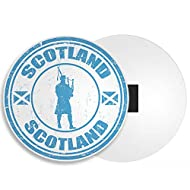 DestinationVinyl Scotland Fridge Magnet - Scottish Flag Bagpipes Edinburgh Cool Travel Gift #4275