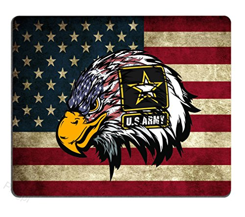 Mouse Pad US Army Cool American Flag Eagle Custom Design, 9.5 X 7.9 Inch (240mmX200mmX3mm)
