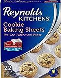 Kitchens Cookie Baking Sheets, Pre-Cut Parchment Paper, 1 Set of 22 Sheets