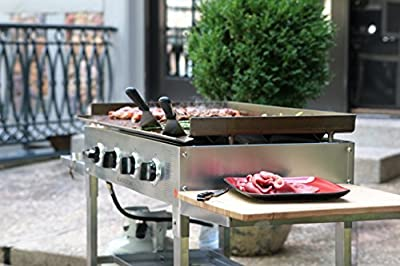 Blackstone 36 inch Stainless Steel Outdoor Cooking Gas Grill Griddle Station by North Atlantic Imports LLC