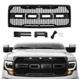 Seven Sparta Front Grill for Ford F150 2009-2014 Raptor Style Grill, Matte Black