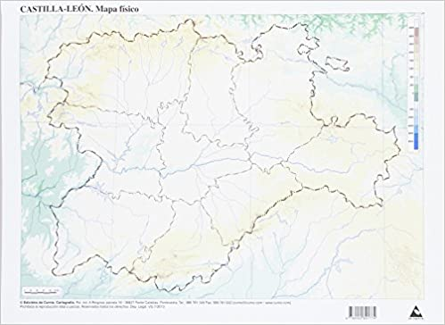 Paquete50 Mapas Castilla Leon Fisico Mudos 9788482891774 Amazon
