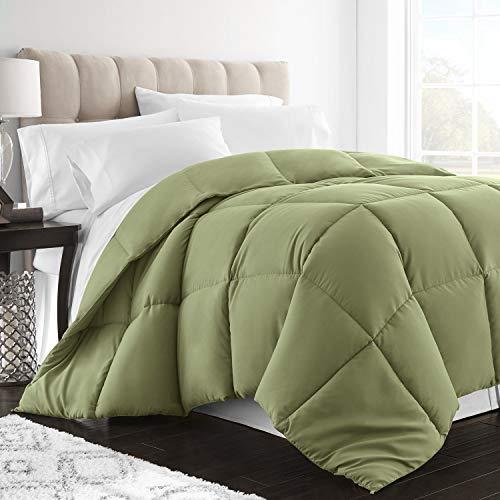 Sleep Restoration Down Alternative Comforter 2300 Series - Best Hotel Quality Hypoallergenic Duvet Insert Bedding - Twin/Twin XL - Sage ()