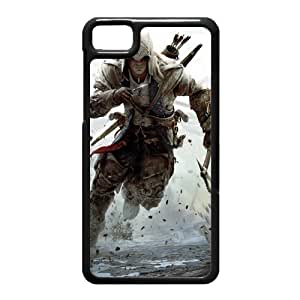 Black Berry Z10 Case,Assassins Creed 3 Connor Free Runnin High Definition Wonderful Design Cover With Hign Quality Hard Plastic Protection Case