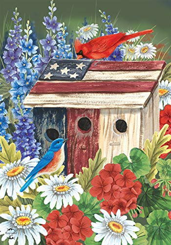 - Briarwood Lane Patriotic Gathering Spring House Flag Birdhouse Floral Cardinal 28