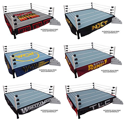 PACKAGE DEAL SIX (6) WWE RING SKIRTS & TWO (2) RING MATS - WWE RINGSIDE EXCLUSIVE WICKED COOL TOYS TOY WRESTLING ACTION FIGURE PLAYSET ACCESSORIES - RING NOT INCLUDED - Exclusive Wwe Toy