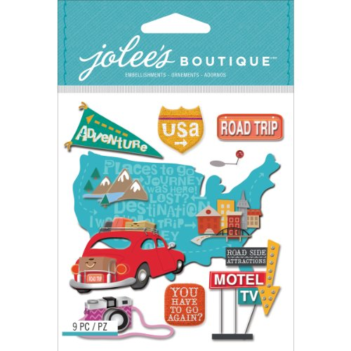 Jolee's Boutique Dimensional Stickers, Road Trip Embellishments Road Trip