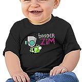 KIYOMM Unisex-Baby / Toddler / Infant Invader Zim Logo T-Shirts (6-24 Months) Black