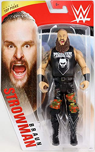 WWE Top Picks 6-inch Action Figures with Articulation & Life-Like Detail, Braun Strowman