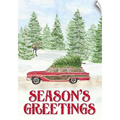 CANVAS ON DEMAND Sleigh Bells Ring - Seasons Greetings Wall Peel Art Print, 17
