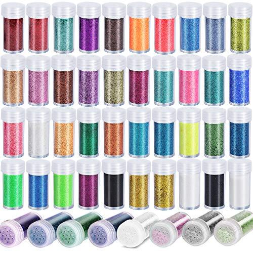 Glitter 48 colores frascos 13g para resina, artesanias