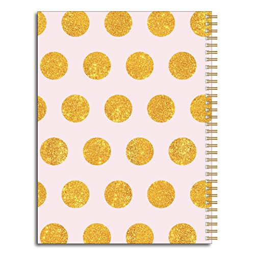 Gratitude Inspirational Personalized Pink & Gold Notebook/Journal, 120 Wide Ruled or Checklist Pages, durable laminated cover, and wire-o spiral. 8.5x11 | 5.5x8.5 | Made in the USA Photo #2