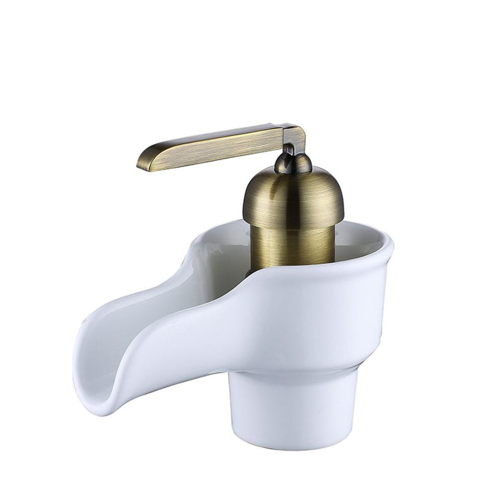 E Longless Bathroom brass basin faucet bathroom cabinet hot and cold wash basin mixer