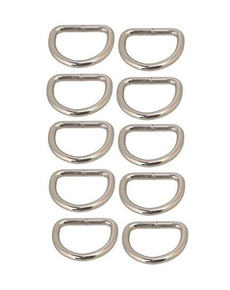 BANGBANG Anillos en D para Asas de Bolso o Monedero, Paquete de 10 – 25 mm (12 mm)