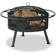 Uniflame Wad992Sp Aged Bronze Outdoor Firebowl with Leaf Design