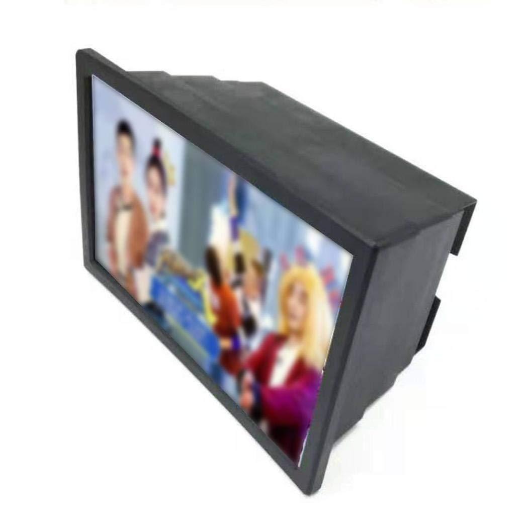 pioleUK Pantalla del tel/éfono m/óvil Lupa Protecci/ón para los Ojos Amplificador de Lupa de Video 3D Soportes