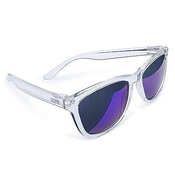 Gafas de Sol Polarizadas SURe Transparentes con Lente Morada: Amazon.es: Deportes y aire libre